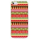 CRYSAIPHONE4AZTEQUEJAUROU - Coque rigide pour Apple iPhone 4 avec impression Motifs aztèque jaune et rouge