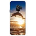 CRYSGALAXYS9DAUPHIN - Coque rigide transparente pour Samsung Galaxy S9 avec impression Motifs dauphin