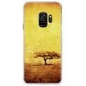 CRYSGALAXYS9DESERT - Coque rigide transparente pour Samsung Galaxy S9 avec impression Motifs paysage désertique