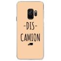 CRYSGALAXYS9DISCAMIONBEIGE - Coque rigide transparente pour Samsung Galaxy S9 avec impression Motifs Dis Camion beige