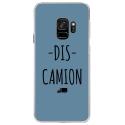 CRYSGALAXYS9DISCAMIONBLEU - Coque rigide transparente pour Samsung Galaxy S9 avec impression Motifs Dis Camion bleu
