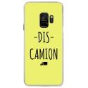 CRYSGALAXYS9DISCAMIONJAUNE - Coque rigide transparente pour Samsung Galaxy S9 avec impression Motifs Dis Camion jaune