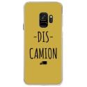 CRYSGALAXYS9DISCAMIONOR - Coque rigide transparente pour Samsung Galaxy S9 avec impression Motifs Dis Camion or