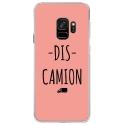 CRYSGALAXYS9DISCAMIONROSE - Coque rigide transparente pour Samsung Galaxy S9 avec impression Motifs Dis Camion rose