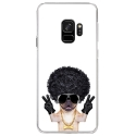 CRYSGALAXYS9DOGGANGSTER - Coque rigide transparente pour Samsung Galaxy S9 avec impression Motifs bulldog gangster