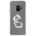 CRYSGALAXYS9DRAGONTRIBAL - Coque rigide transparente pour Samsung Galaxy S9 avec impression Motifs dragon tribal