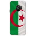 CRYSGALAXYS9DRAPALGERIE - Coque rigide transparente pour Samsung Galaxy S9 avec impression Motifs drapeau de l'Algérie