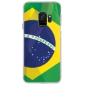 CRYSGALAXYS9DRAPBRESIL - Coque rigide transparente pour Samsung Galaxy S9 avec impression Motifs drapeau du Brésil