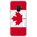 CRYSGALAXYS9DRAPCANADA - Coque rigide transparente pour Samsung Galaxy S9 avec impression Motifs drapeau du Canada