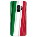 CRYSGALAXYS9DRAPITALIE - Coque rigide transparente pour Samsung Galaxy S9 avec impression Motifs drapeau de l'Italie