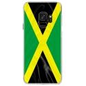 CRYSGALAXYS9DRAPJAMAIQUE - Coque rigide transparente pour Samsung Galaxy S9 avec impression Motifs drapeau de la Jamaïque