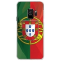 CRYSGALAXYS9DRAPPORTUGAL - Coque rigide transparente pour Samsung Galaxy S9 avec impression Motifs drapeau du Portugal