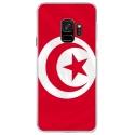 CRYSGALAXYS9DRAPTUNISIE - Coque rigide transparente pour Samsung Galaxy S9 avec impression Motifs drapeau de la Tunisie