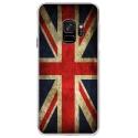 CRYSGALAXYS9DRAPUKVINTAGE - Coque rigide transparente pour Samsung Galaxy S9 avec impression Motifs drapeau UK vintage
