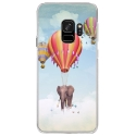 CRYSGALAXYS9ELEPHANT - Coque rigide transparente pour Samsung Galaxy S9 avec impression Motifs éléphant dans les nuages