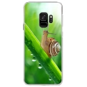 CRYSGALAXYS9ESCARGOT - Coque rigide transparente pour Samsung Galaxy S9 avec impression Motifs escargot sur une tige