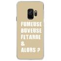 CRYSGALAXYS9FUMEUSETAUPE - Coque rigide transparente pour Samsung Galaxy S9 avec impression Motifs fumeuse et alors taupe