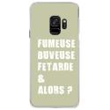 CRYSGALAXYS9FUMEUSEVERT - Coque rigide transparente pour Samsung Galaxy S9 avec impression Motifs fumeuse et alors vert