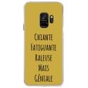 CRYSGALAXYS9GENIALEOR - Coque rigide transparente pour Samsung Galaxy S9 avec impression Motifs Chiante mais Géniale or