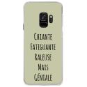 CRYSGALAXYS9GENIALEVERT - Coque rigide transparente pour Samsung Galaxy S9 avec impression Motifs Chiante mais Géniale vert