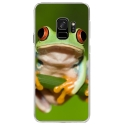 CRYSGALAXYS9GRENOUILLE - Coque rigide transparente pour Samsung Galaxy S9 avec impression Motifs grenouille