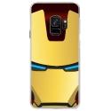 CRYSGALAXYS9IRONMASQUE - Coque rigide transparente pour Samsung Galaxy S9 avec impression Motifs masque Iron