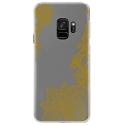 CRYSGALAXYS9LACEGOLD - Coque rigide transparente pour Samsung Galaxy S9 avec impression Motifs Lace gold