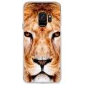 CRYSGALAXYS9LION - Coque rigide transparente pour Samsung Galaxy S9 avec impression Motifs tête de lion