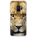 CRYSGALAXYS9LIONNE - Coque rigide transparente pour Samsung Galaxy S9 avec impression Motifs tête de lionne
