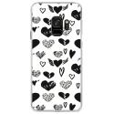 CRYSGALAXYS9LOVE1 - Coque rigide transparente pour Samsung Galaxy S9 avec impression Motifs Love coeur 1
