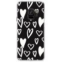 CRYSGALAXYS9LOVE2 - Coque rigide transparente pour Samsung Galaxy S9 avec impression Motifs Love coeur 2