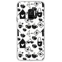 CRYSGALAXYS9LOVE3 - Coque rigide transparente pour Samsung Galaxy S9 avec impression Motifs Love coeur 3