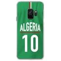 CRYSGALAXYS9MAILLOTALGERIE - Coque rigide transparente pour Samsung Galaxy S9 avec impression Motifs Maillot de Football Algérie