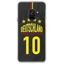 CRYSGALAXYS9MAILLOTALLEMAND - Coque rigide transparente pour Samsung Galaxy S9 avec impression Motifs Maillot de Football Allemagn