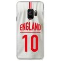 CRYSGALAXYS9MAILLOTANGLETERR - Coque rigide transparente pour Samsung Galaxy S9 avec impression Motifs Maillot de Football Angleter