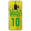 CRYSGALAXYS9MAILLOTBRESIL - Coque rigide transparente pour Samsung Galaxy S9 avec impression Motifs Maillot de Football Brésil
