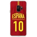 CRYSGALAXYS9MAILLOTESPAGNE - Coque rigide transparente pour Samsung Galaxy S9 avec impression Motifs Maillot de Football Espagne