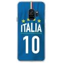 CRYSGALAXYS9MAILLOTITALIE - Coque rigide transparente pour Samsung Galaxy S9 avec impression Motifs Maillot de Football Italie