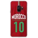CRYSGALAXYS9MAILLOTMAROC - Coque rigide transparente pour Samsung Galaxy S9 avec impression Motifs Maillot de Football Maroc