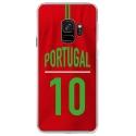 CRYSGALAXYS9MAILLOTPORTUGAL - Coque rigide transparente pour Samsung Galaxy S9 avec impression Motifs Maillot de Football Portugal