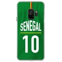 CRYSGALAXYS9MAILLOTSENEGAL - Coque rigide transparente pour Samsung Galaxy S9 avec impression Motifs Maillot de Football Sénéga