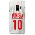 CRYSGALAXYS9MAILLOTTUNISIE - Coque rigide transparente pour Samsung Galaxy S9 avec impression Motifs Maillot de Football Tunisie