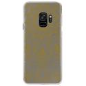 CRYSGALAXYS9MANDALAGOLD - Coque rigide transparente pour Samsung Galaxy S9 avec impression Motifs Mandala gold