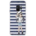 CRYSGALAXYS9MANGAMARINE - Coque rigide transparente pour Samsung Galaxy S9 avec impression Motifs manga fille marin