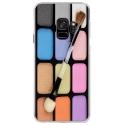 CRYSGALAXYS9MAQUILLAGE - Coque rigide transparente pour Samsung Galaxy S9 avec impression Motifs palette de maquillage