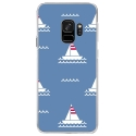 CRYSGALAXYS9MARIN1 - Coque rigide transparente pour Samsung Galaxy S9 avec impression Motifs thème marin 1