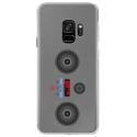 CRYSGALAXYS9MP3 - Coque rigide transparente pour Samsung Galaxy S9 avec impression Motifs lecteur MP3