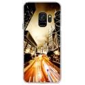 CRYSGALAXYS9NIGHTSTREET - Coque rigide transparente pour Samsung Galaxy S9 avec impression Motifs Night Street