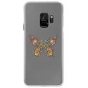 CRYSGALAXYS9PAPILLONSEUL - Coque rigide transparente pour Samsung Galaxy S9 avec impression Motifs papillon psychédélique