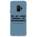 CRYSGALAXYS9PERFECTIONBLEU - Coque rigide transparente pour Samsung Galaxy S9 avec impression Motifs frôler la perfection bleu
